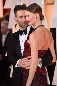 Mandatory Credit: Photo by David Fisher/REX (4443780bj) Adam Levine and Behati Prinsloo 87th Academy Awards, Oscars, Arrivals, Los Angeles, America - 22 Feb 2015  /Rex_Oscars_4443780BJ//1502230200